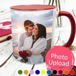 personalised coloured photo mug