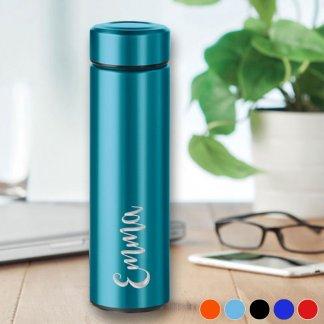 personalised metallic flask
