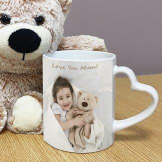 Personalised Heart Handle Mug
