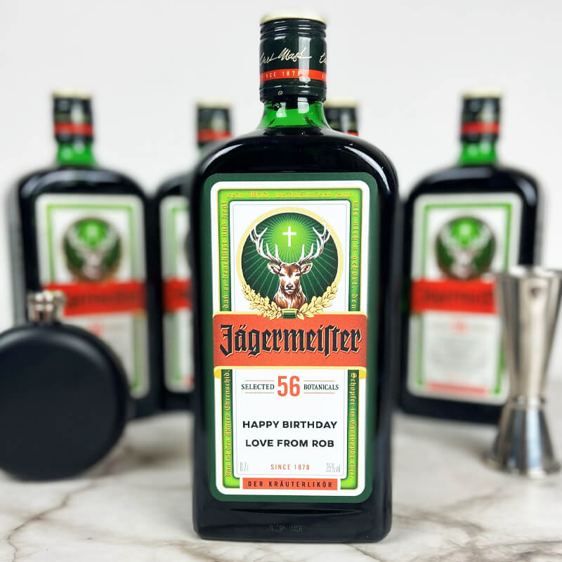 Personalised Jager Bottle