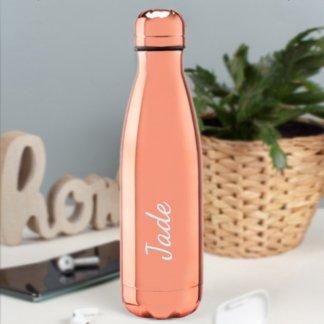 personalised rose gold bottle